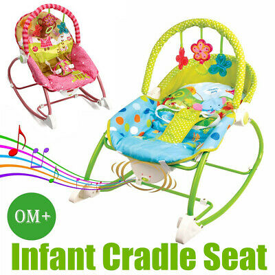Baby Infant Rocker Bouncer Chair Music Vibration Toys Sleeper Cradle Seat AU