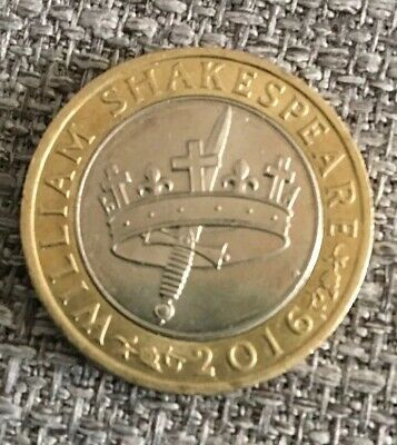 2016 Shakespeare Hollow Crown & Dagger £2 Coin