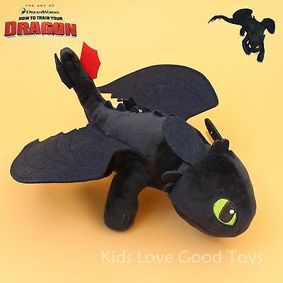 How To Train Your Dragon TOOTHLESS Night Fury Plush Toy Soft Doll 10""