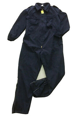 """Heathcoat Kermal FR Coverall Navy Blue Size 46"""" 117cm Used #1482"""