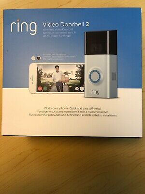 Ring Video Doorbell 2 1080p HD Video Rechargeable Battery  WIFI - Brand New