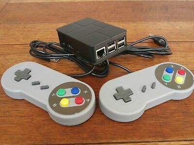 Retro Game Console 6700 games + 2 controllers + hdmi cable+power supply RetroPie