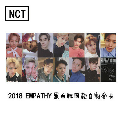 Kpop NCT U 127 2018 Empathy Paper Cards Self Made Autograph Photocard Poster w8