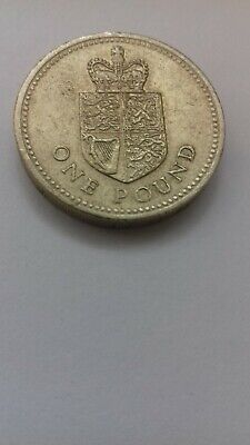 1988 £1 One Pound Coin Crown Shield of Royal Arms RARE hunt old round