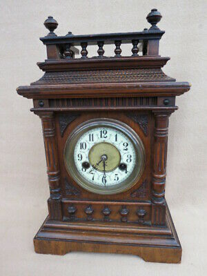 Antique German Hac 14 Day Strike Bracket Clock For Tlc