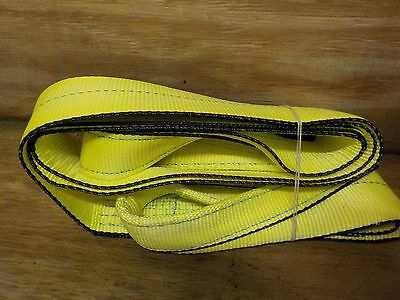 Mazzella EE1-904 Edgeguard Polyester Web Sling, Eye-and-Eye, Yellow, 1 Ply, 9' L