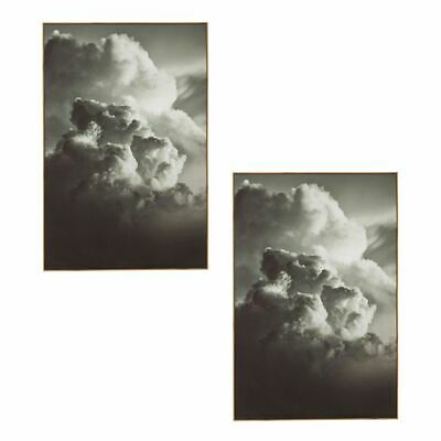 NEW Amalfi Dark Clouds Framed Wall Art (Set of 2)