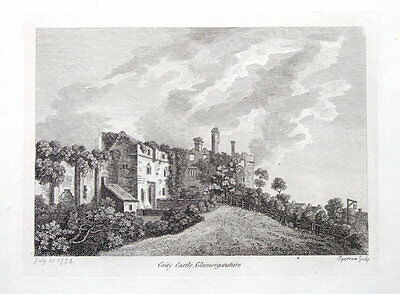 WALES, COITY CASTLE, GLAMORGANSHIRE,  Hooper Antique Print 1774