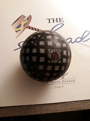 Antique vintage golf ball Challenger X.L.Mesh Great Condition made, C 1900s