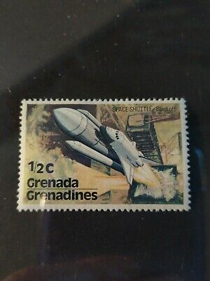 """Timbre Grenade 1/2 cent 1978 """"space shuttle"""""""