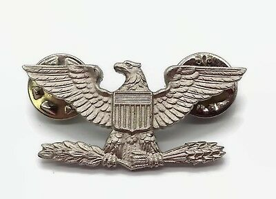 Krew 1/20 Silver Filled  G-I US Army Colonel  Eagle War Bird Device Pin Insignia