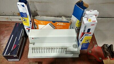 Rexel Comb Binding Machine Cb3000 A4 Reports Binders Office Equipment