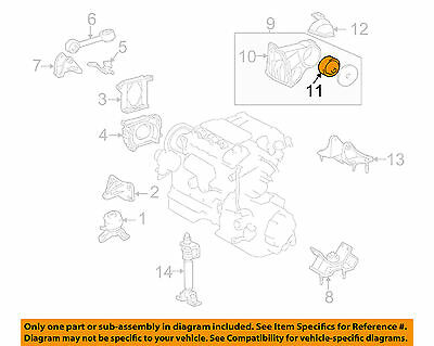 Toyota Oem-Engine Couple Amortisseur Montage 123710a020