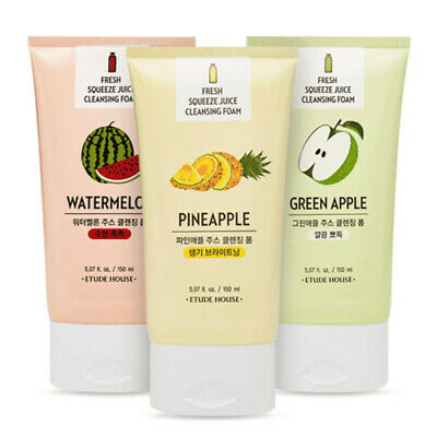 [ETUDE HOUSE]Fresh Squeeze Juice Cleansing Foam 150ml 3types - Korea Cosmetic