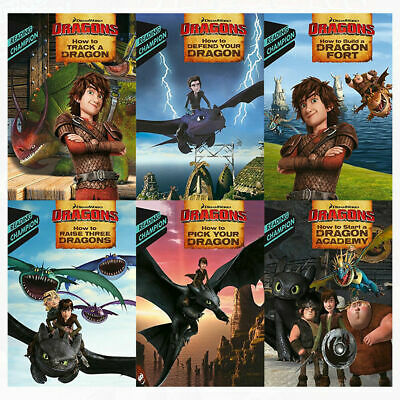 How to Train Your Dragon Early Reader Collection 6 Books Set