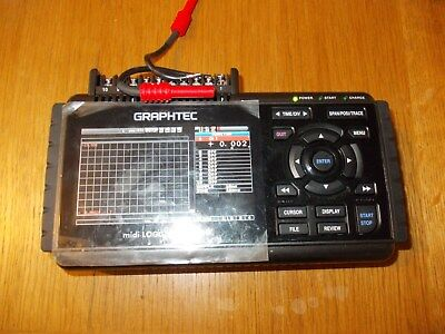 Graphtec midi LOGGER GL220 with clamp type probe. 10 channel handy data logger
