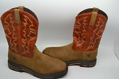 b008c77e53c ARIAT MENS WORKHOG 10005888 Square Soft Toe Western Work Boots SIZE ...