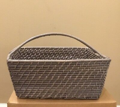 NEW Pottery Barn Baby Kids Quinn Diaper Caddy Basket GRAY