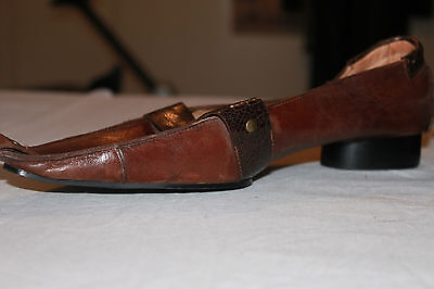 Backless shoe ALAIN BASTIANI All Leather T 41 VERY GOOD CONDITION