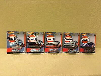 Hot Wheels 2019 Car Culture Gulf Racing Complete Set of 5 Cars In Hand New
