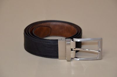 2a13162a722 Luchengyi Classic Jean Reversible Men s Genuine Leather Belt Brown-Black  size 38