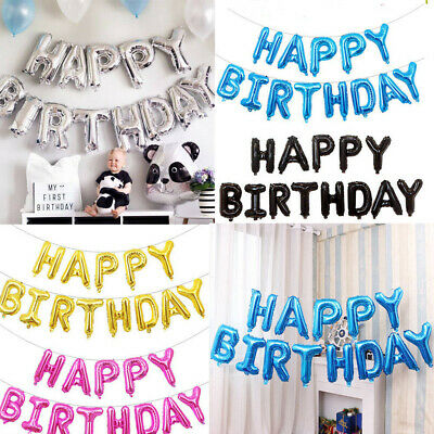 Happy Birthday Balloons Banner Self Inflating Foil Balloons Party Decoration UK