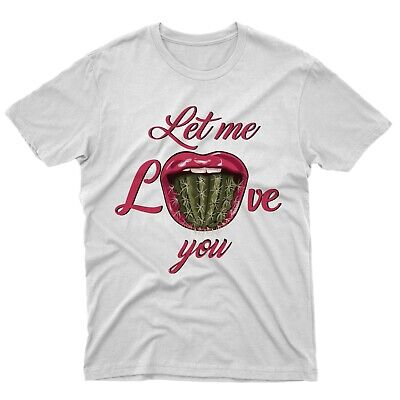 fm10 t-shirt maglietta cactus tongue donna idea regalo bacio love gift mitiche