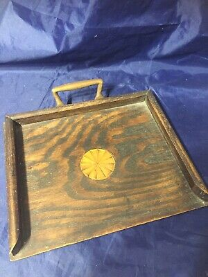 Vintage Old Wooden Table Brush Crumb TRAY Only Marquetry