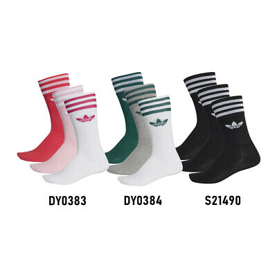 Adidas Solid Crew Sock DY0383-84 (3 Paia)