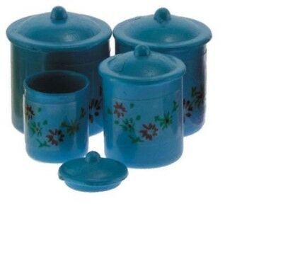 Dollhouse Miniatures 1:12 Scale Canister Set 4 Piece Pink #IM65611