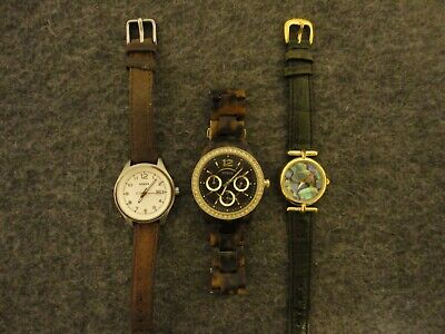 Fossil Lot Of 3 de Mujer Cuarzo Relojes Pc9209/Es3814/Am4379-new Batts / Serie