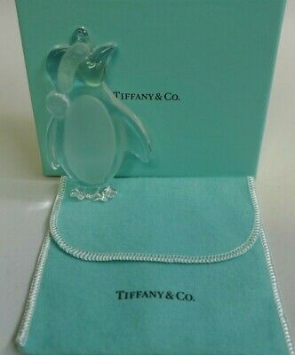 Tiffany & Co. Crystal Penguin Boxed Christmas Ornament - Signed