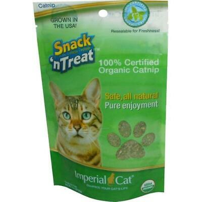 NEW Snack 'n Treats 100% Certified Organic Catnip 1oz Resealable by Imperial Cat