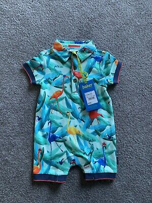 Ted Baker Baby Boys 0-3 Months Summer Rompers