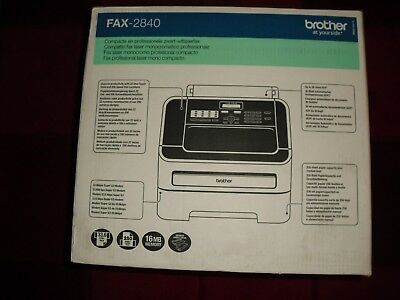 Brother Fax-2840 High Speed Laser Fax Machine.  Brand new in box.