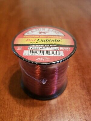 Test 25886 Zebco 2136326 Cajun Red Low Visibility Line Quarter Lb Spool 50 Lb
