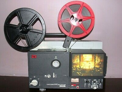 Elmo Sound Hi Vision SC-18 M 2-Track Movie Projector in Box & Lamp ~Serviced~