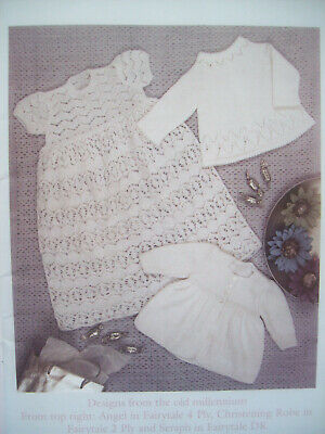 Baby Girls Boys MILLENNIUM BABIES KNITTING PATTERN Book Patons 16 - 20in 0 - 12m