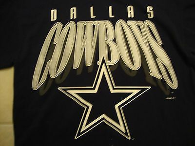 VINTAGE NFL DALLAS Cowboys Football Sportswear Fan Navy Blue T Shirt ... 8363439c5