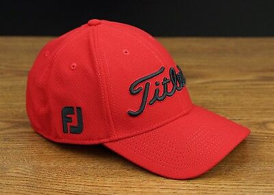 Titleist Golf Players Deep Back Lightweight Fitted Hat Cap Red Black S M NEW 0532d01a0290