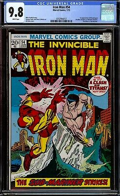 Iron Man #54...CGC 9.8 NM/M White pgs...First appearance of Moondragon