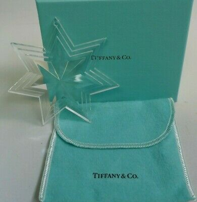 Tiffany & Co. Clear Crystal Star Boxed Christmas Ornament - Signed