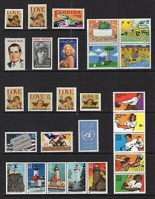 US 1995 NH Commemorative Year 2948-3013 3018-23 - 120 Stamps - Free USA Shipping
