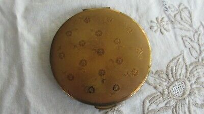 Vintage KIGU Powder Compact with Flowers