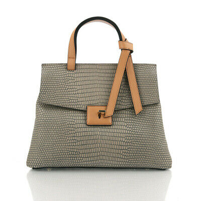 Tony Classic Small Tote made of Natural Cowhide-Feeling Vintage, Antique Mood.