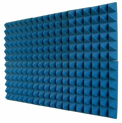 6 Pack Acoustic Foam Sound Absorption Pyramid Studio Treatment Wall Panels New