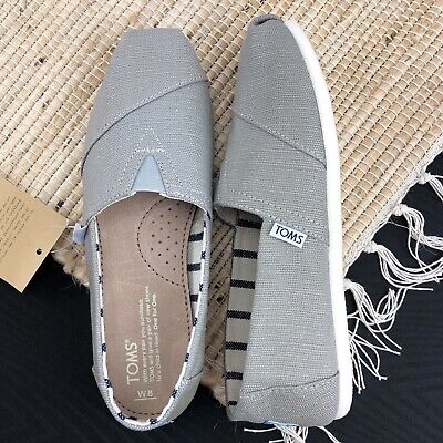 d051f15a7ef Toms Classic Womens 8 Gray Morning Dove Heritage Canvas Venice Collection  Shoes