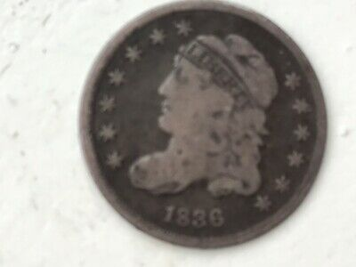 1836 5 Cent Bust Half Dime Collectible Coin