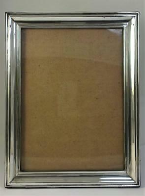 "Antique hallmarked Sterling Silver Fronted Photo Frame  (8 ½"" x 6 ½"") – 1915"