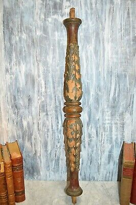 Antique Victorian Carved Wood Post Baluster Column Architectural Salvage